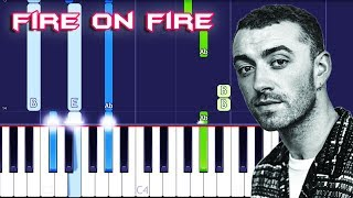 Download Sam Smith - Fire On Fire Piano Tutorial EASY (Piano Cover) Video