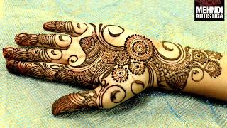 Download Easy Simple Beautiful Circular Mehndi Designs For Hands|Latest Henna For Palm|MehndiArtistica Design Video