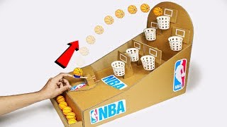 Download How to make NBA Basketball Slam Dunk Arcade Board Game from Cardboard DIY at Home Video