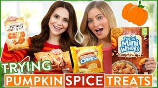 Download TRYING FUN PUMPKIN SPICE FLAVORED FOOD Video