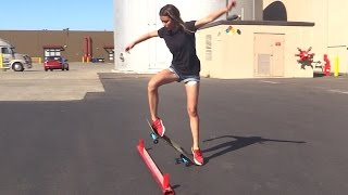 Download GIRL LEARNS HER FIRST SKATEBOARD TRICKS | EP 3 OLLIE FIRST STEPS Video