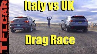 Download 2018 Ranger Rover Velar vs Alfa Romeo Stelvio Drag Race! Video