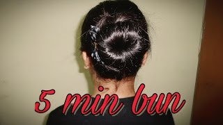 Download Air hostess inspired 5 min hair bun tutorial | Beauty box Video