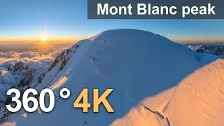 Download Three peaks of Mont Blanc, 360° video over Mont Blanc peak Video