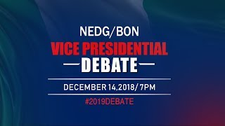 Download NEDG/BON VICE-PRESIDENTIAL DEBATE Video