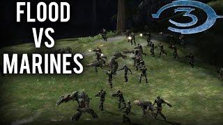 Download Halo 3 AI Battle - Flood vs Marines Video