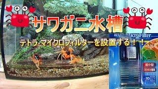 Download 【サワガニ水槽】テトラ・マイクロフィルターを設置!! Video
