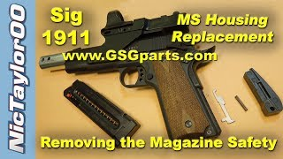 Download 1911 ATI / GSG / Sig Sauer 22 LR Magazine Safety Removal & Mainspring Housing Replacement Video