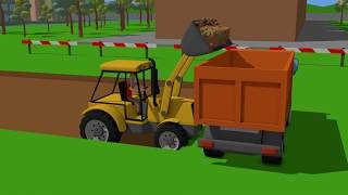 Download #Excavator and Mini Excavator, Dump Truck - Pipe Repair | Street Vehicles | Maszyny Budowlane Video