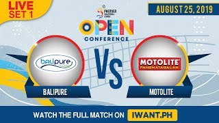 Download LIVE: SET 1 | BaliPure vs. Motolite | August 25, 2019 (Watch the full game on iWant.ph) Video