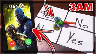 Download DO NOT PLAY CHARLIE CHARLIE FIDGET SPINNER WHEN TALKING TO THANOS AT 3AM!! *AVENGERS INFINITY WAR* Video
