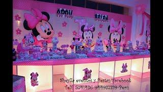 Download Minnie mouse baby, bebe, decoración de fiesta, mesa de dulces Video