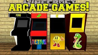 Download Minecraft: ARCADE GAMES!! (PACMAN & PONG MACHINES WITH PRIZES!!) Mod Showcase Video