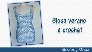 Download Blusa verano con punto calado a crochet - Parte 1 Video