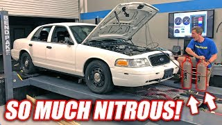 Download GIANT NITROUS SHOT vs. Retired Cop Car! *Glorious Explosion* Video