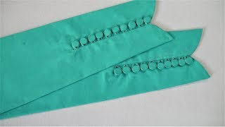 Download Latest Sleeves Design With Making Button Cutting And Stitching Video