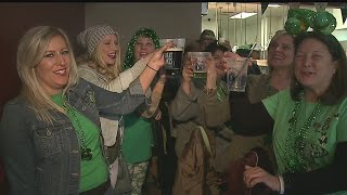 Download People all around the Valley walk the streets in celebration of St. Patty's Day Video