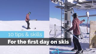 Download HOW TO SKI | 10 BEGINNER SKILLS FOR THE FIRST DAY SKIING Video