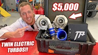 Download Dyno Testing $5,000 Worth of ELECTRIC Turbos! Double the BOOST!!! Video