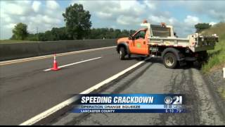 Download Police use construction trucks to catch speedy drivers on Pennsylvania Turnpike Video