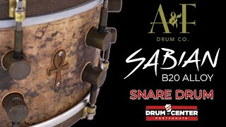 Download A&F Ankh Bronze Snare Drum 14x6.5 - Sabian Cymbal Alloy! Video