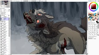 Download One Foot In The Grave - Wolf Speedpaint Video