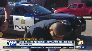 Download Mesa College officer on leave after pulling gun Video