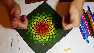 Download How to paint dot mandalas with Kristin Uhrig- tools and tips/part two Video