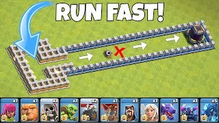 Download Who can OUTRUN a TORNADO trap??? ″Clash Of Clans″ troll race! Video