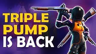 Download TRIPLE PUMP IS BACK | DOUBLE PUMP | NEW UPDATE & SHOTGUN MECHANICS - (Fortnite Battle Royale) Video