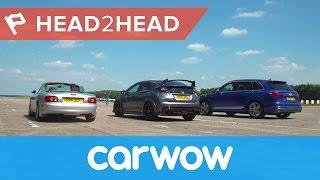Download Audi SQ7 2017 SUV vs Honda Civic Type R vs tuned Mazda MX-5 drag race & review| Head2Head Video