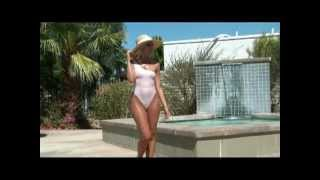 Download Sheer Elegance, jewel accented sheer one piece swimsuit by Brigitewear Video