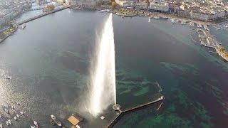 Download Le Jet d'Eau et la Rade de Genève avec un mini-drone (Geneva Fountain by UAV) Video