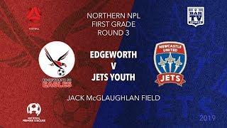 Download 2019 NPL Northern NSW u20s and 1st Grade - Round 3 - Edgeworth Eagles v Newcastle Jets Youth Video