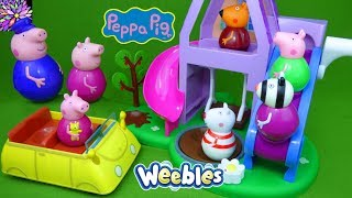 Download Peppa Pig Weebles Toys Sleepover at Granny and Grandpa's Play House Pyjama Party Suzy Sheep PJ Toys Video
