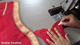 Download Beautiful patchwork blouse back neck design cutting and stitching back neck Video