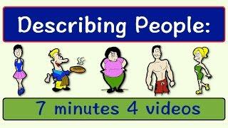 Download Describing People | Four Videos in One | English Speaking Practice | ESL | EFL | ELL Video