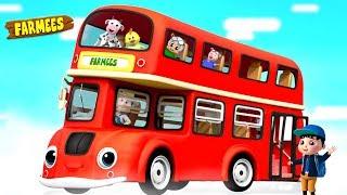 Download Ride on the Bus | Nursery Rhymes & Children Songs | Cartoons by Farmees Video