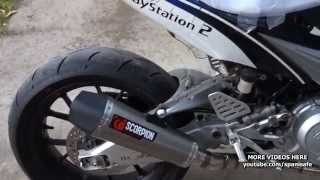 Download SOUND TEST: Scorpion Titanium Serket Taper Racing Exhaust Canister YZF R 125 LC135 R15 Vixion FZ150i Video