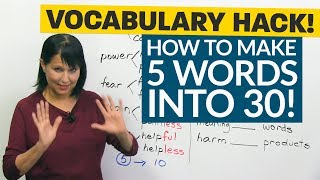 Download Vocabulary Hack: How 5 words become 30! Video