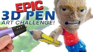 Download EPIC 3D PEN ART CHALLENGE! Video