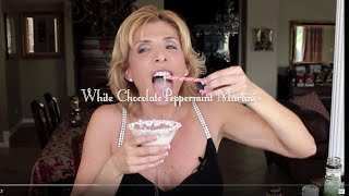Download Christmas Cocktails - White Chocolate Peppermint Martinis Video