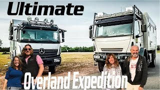 Download Overland Couples Travel in GLOBAL 4x4 Expedition Vehicle ► | Tiny Living Mercedes Iveco Video