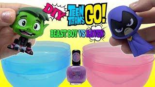 Download TEEN TITANS GO! Beast Boy vs Raven DIY Color Changing Nail Polish Video