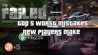 Download GTA Online Top 5 Worst Mistakes New Players Make Video