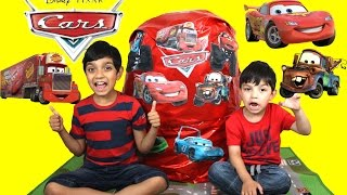Download Giant Egg Surprise Opening Lighting McQueen Mater Disney Pixar Cars video for kids by Hitzh Toys Video