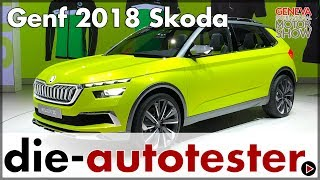 Download Genf 2018: Skoda präsentiert die Designstudie ŠKODA VISION X | Messe | Review | Deutsch Video
