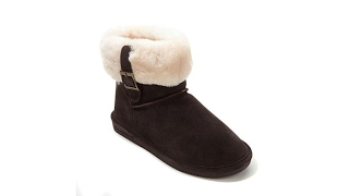 Download BEARPAW Abby Suede Cuffed Buckle Bootie Video