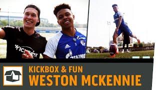 Download American Football Challenge vs. Weston McKennie | FC Schalke 04 | Fun-Challenge | Kickbox Video