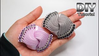 Download DIY - Tutorial Kanzashi Galaxy Satin Ribbon | Elegant Brooch | Gurita manja | How to make Flower Video